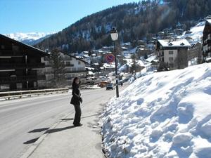 Haute-Nendaz, próximo de uma estância de esqui